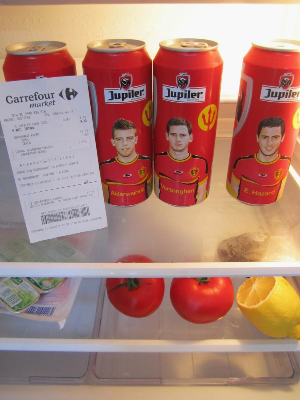 Famous Belgian Football Players On Beer Cans