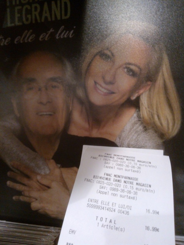 A cd with Nathalie Dessay and Michel Legrand