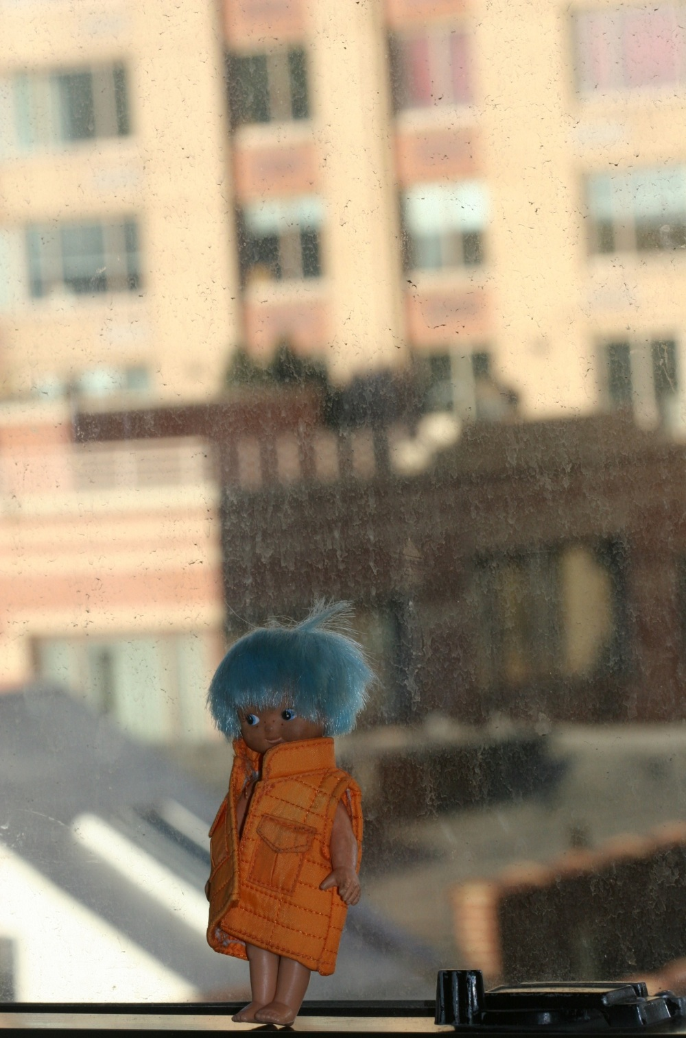 A Blue Haired Doll Shot In Chicago...