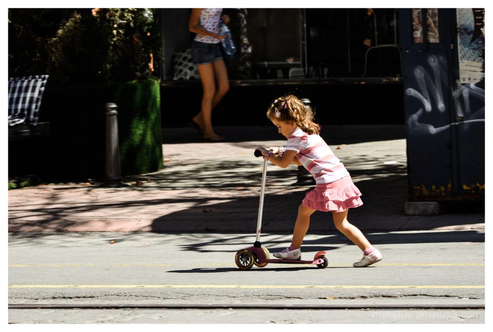 Girl on a skate
