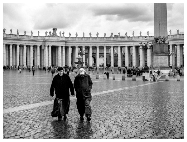 Walking at Vatican Rome, Italy