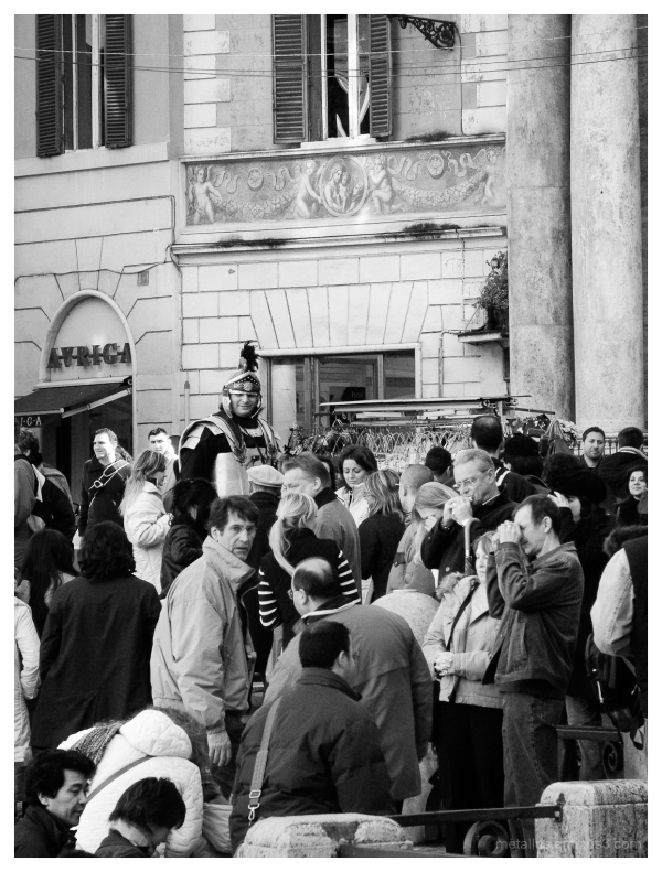 Roman Legionnaire at Fontana di Trevi, Rome, Italy