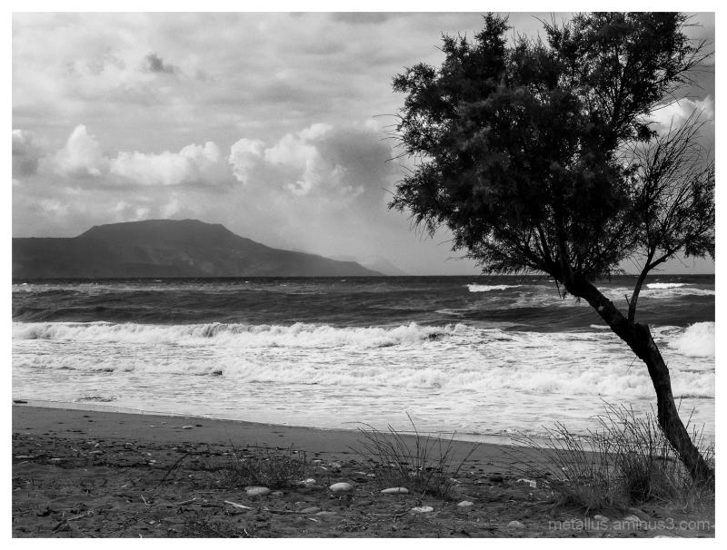 Stormy weather Crete, Greece 2004