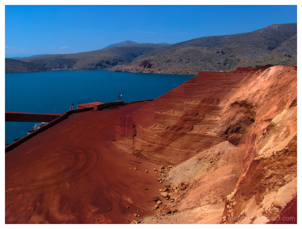 Bauxite quarry at Itea's gulf, Greece