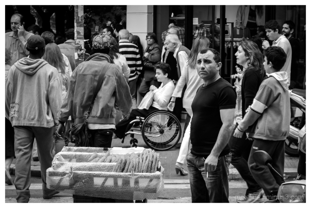 People at Thessaloniki Greece