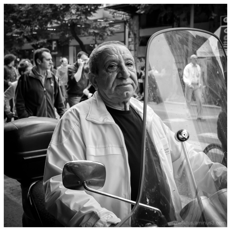 Elderly biker, Thessaloniki Greece