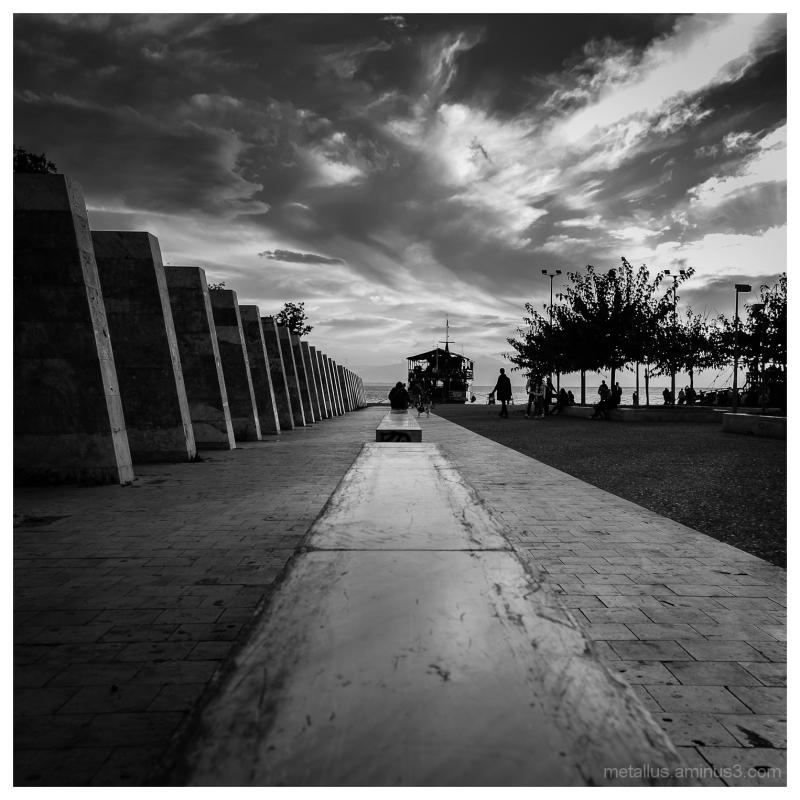 Thessaloniki coast boardwalk