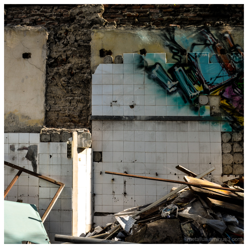 Ruin bulding at Thessaloniki Greece