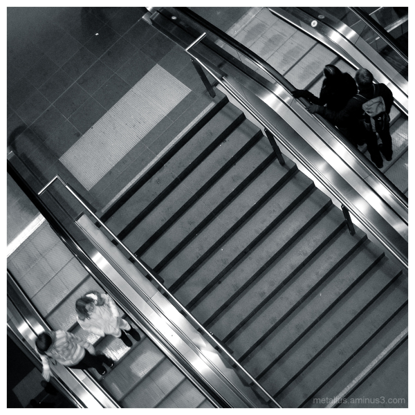People going up and down by stairs at Berlin