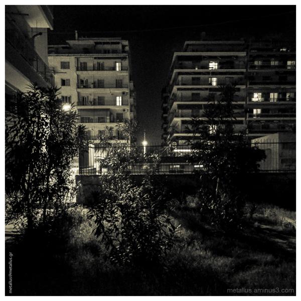 Urban nightshot at Thessaloniki, Greece