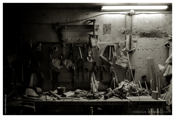 An old abandoned woodworker's shop