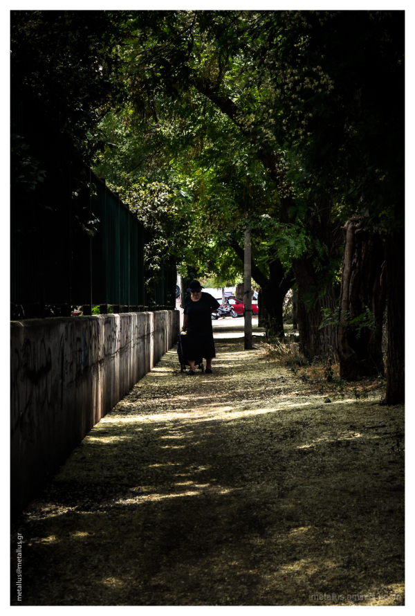 an old woman at thessaloniki greece 2013