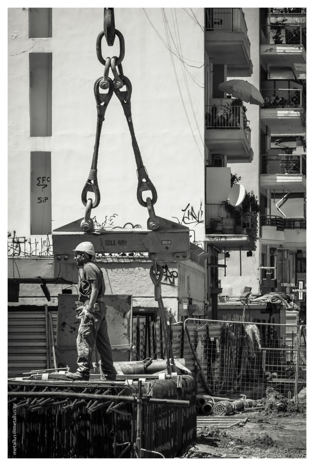 Metro construction site, Thessaloniki, Greece 2013
