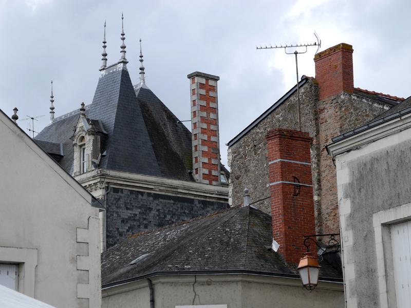 Slates and bricks at St Florent