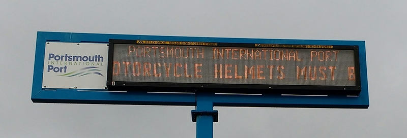 Motorcycle helmets must be worn