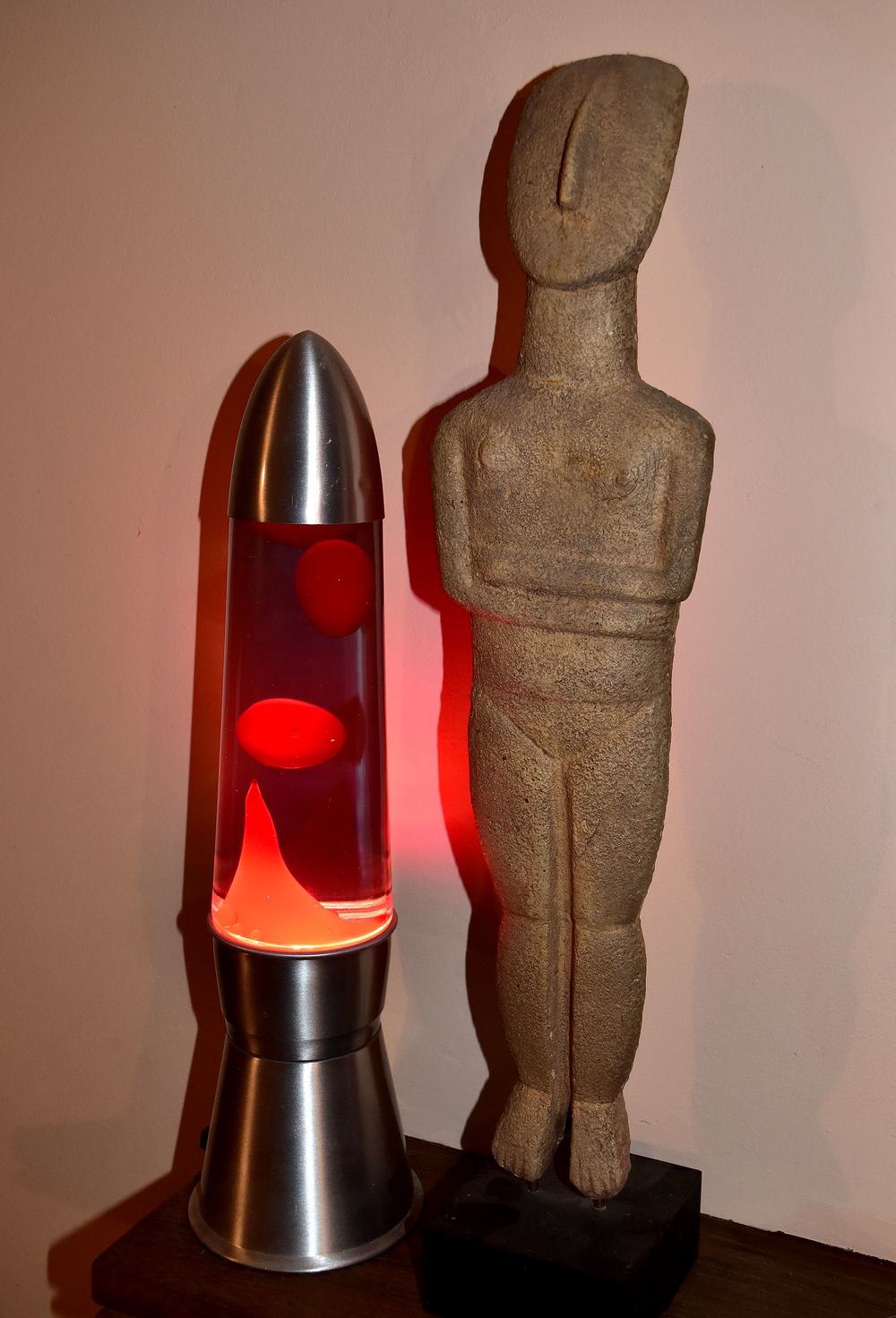 Cycladic Idol with Lava Lamp