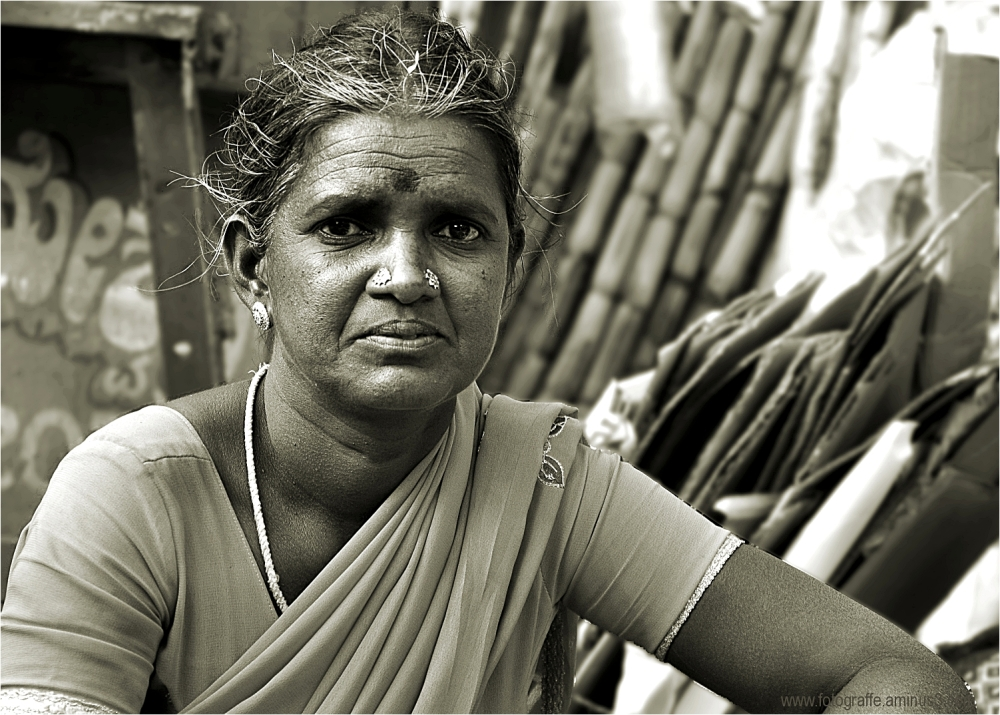 Woman at work in India