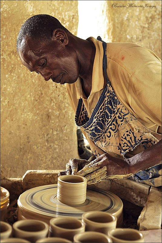 Pottery artisan from Nigeria, Africa