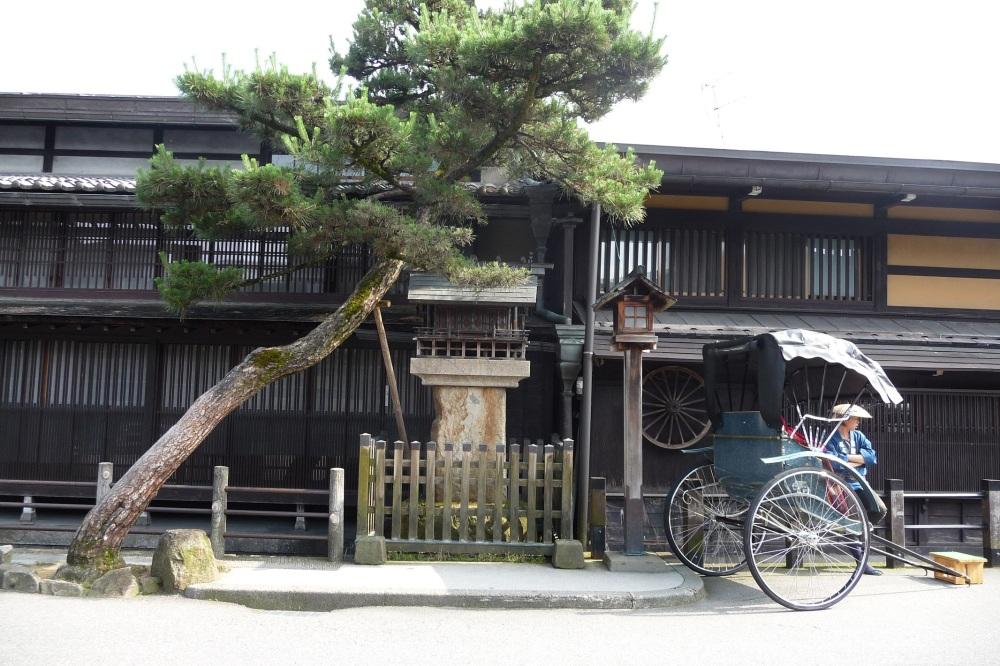 City Takayama street Japan Asia