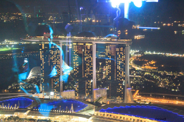 Double blue night at Singapour