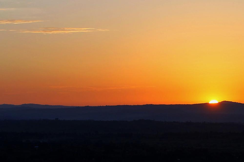 sun rising from the east in tororo eastern uganda