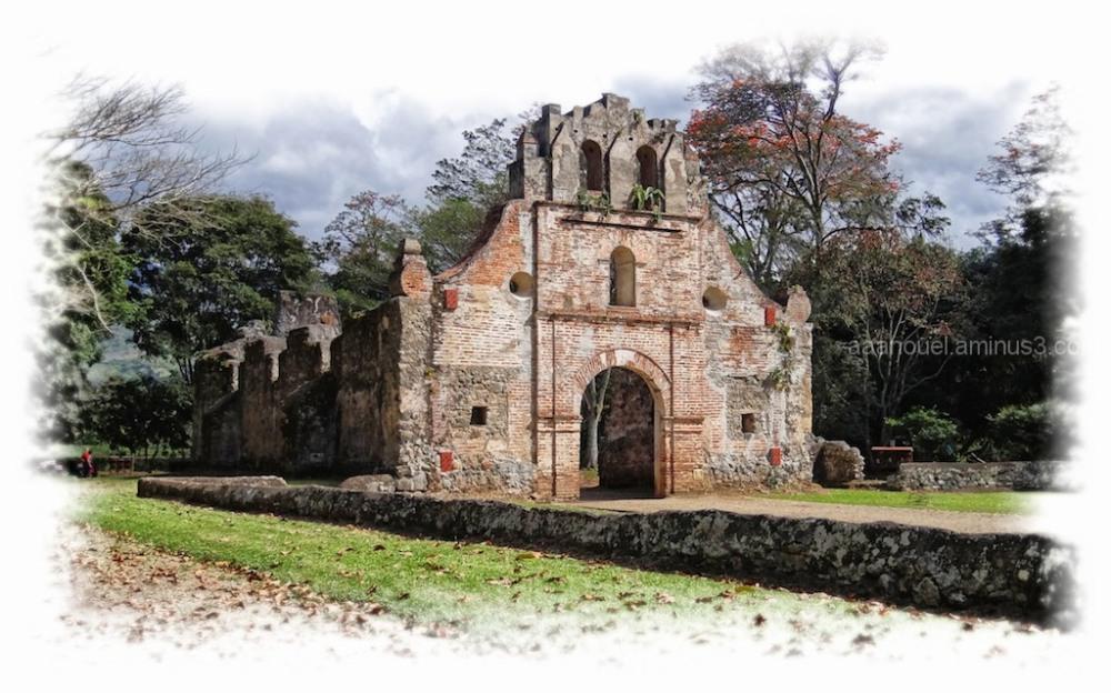 Ujarras ruins church orosi valley costa rica