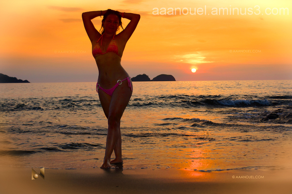 Beach sunset playa hermosa Morèe Costa Rica