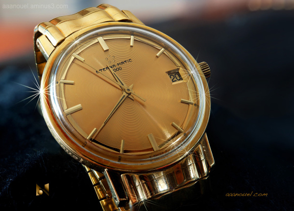 gold wristwatch eterna-matic 3000 aaanouel