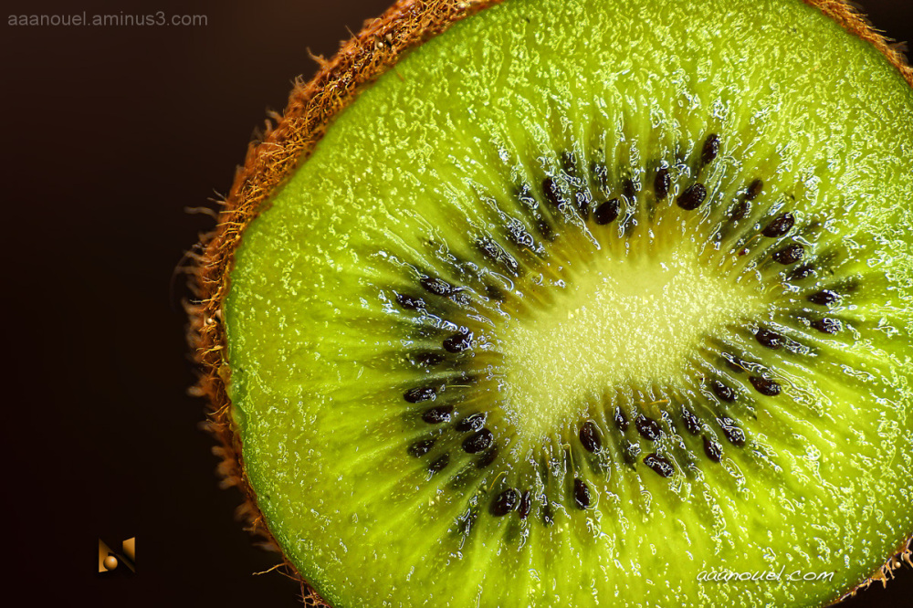 kiwi fruit fruta aaanouel green seeds radial natur