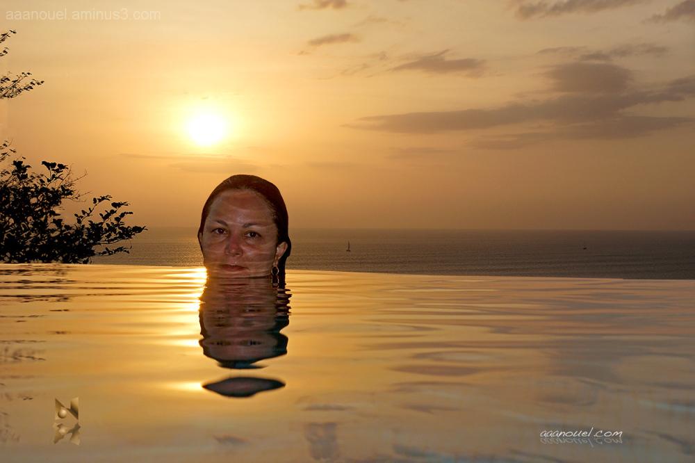 Morèe infinite sun sunset yellow aaanouel water