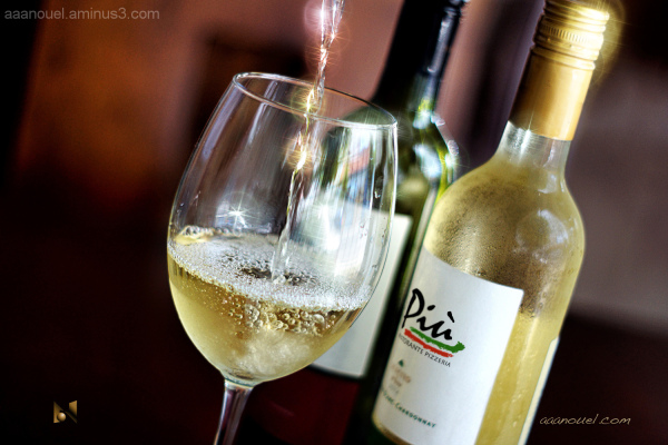 Piu restaurant white wine cup cold aaanouel