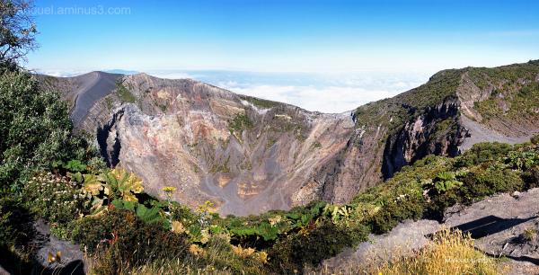 u volcano lagoon crater costa rica aaanouel