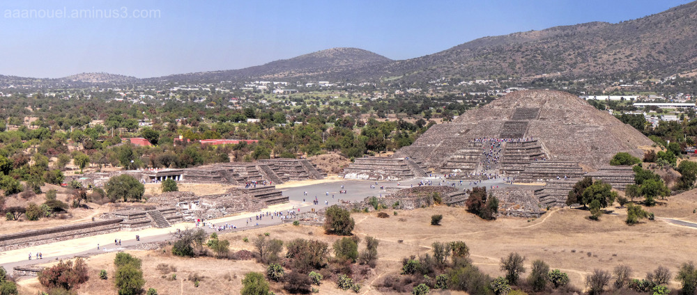Teotihuacán Moon Piramid México aaanouel