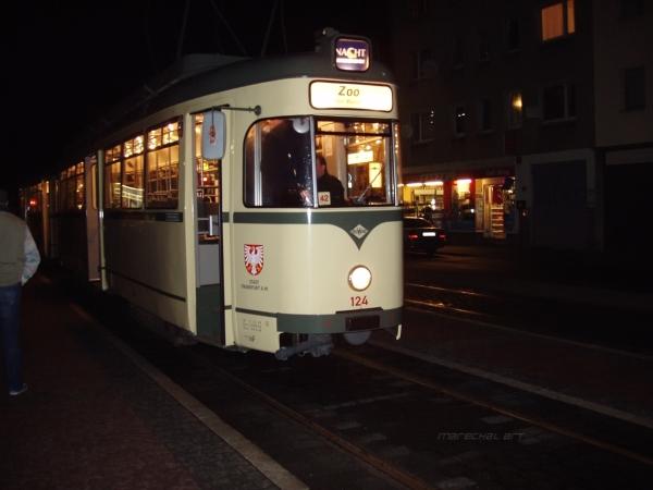German Streetcar in Frankfurt on Main