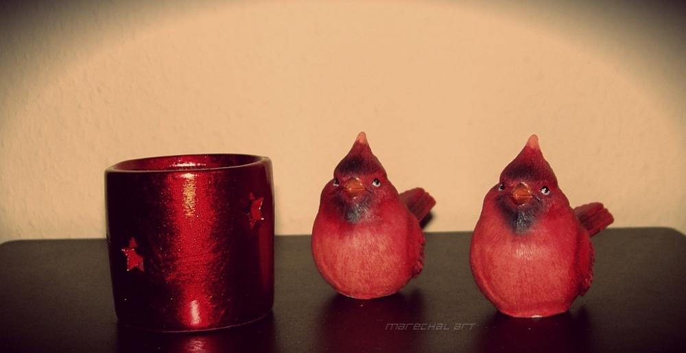 Xmas Red Cardinal Figures