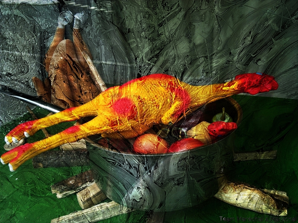 Still Life with rubber chicken