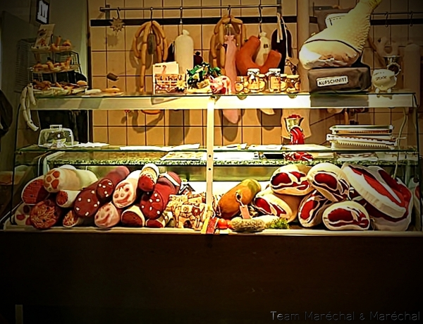 Butcher´s Shop with sewn coldmeat