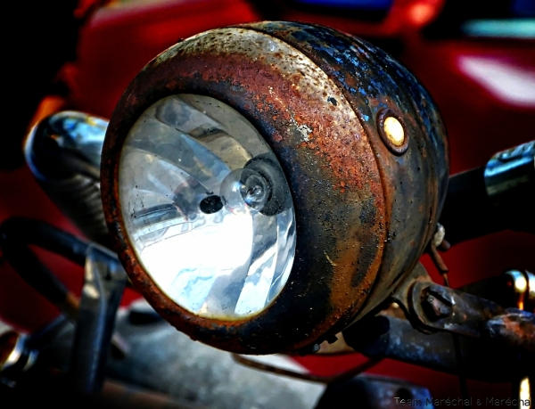 Rusty headlight