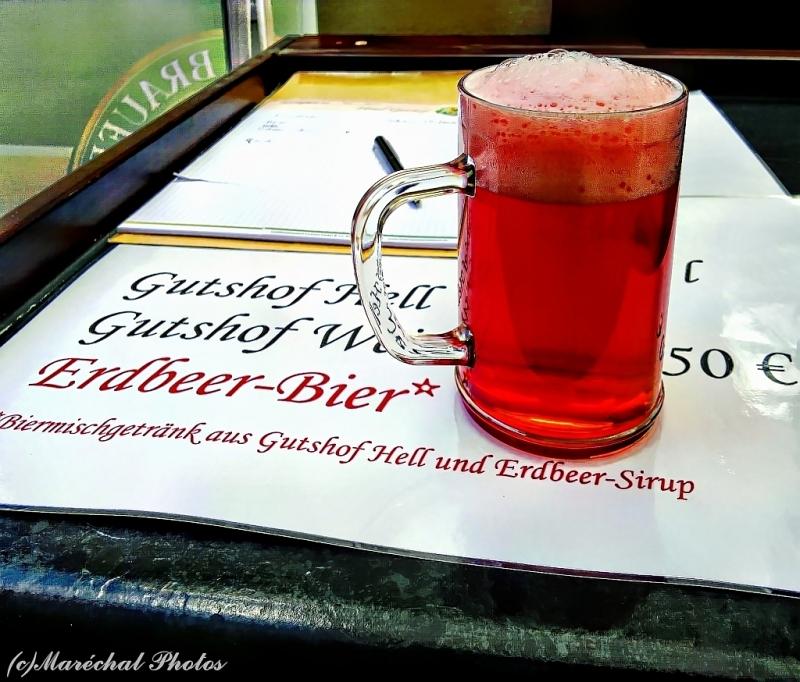 Strawberry beer