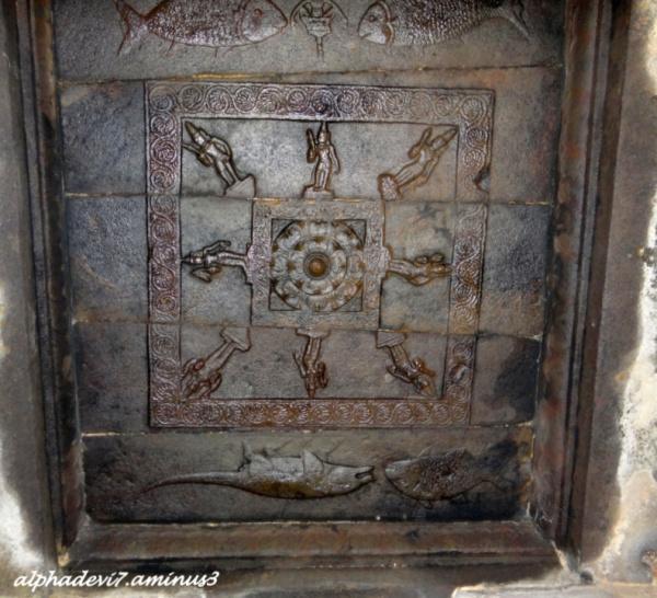 Ceiling in Thiruvaur Siva Temple