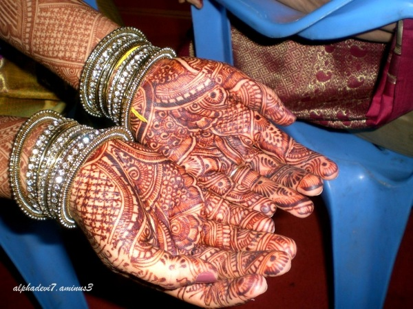 Closeup of Mehendi