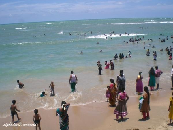 The Holy sea shore
