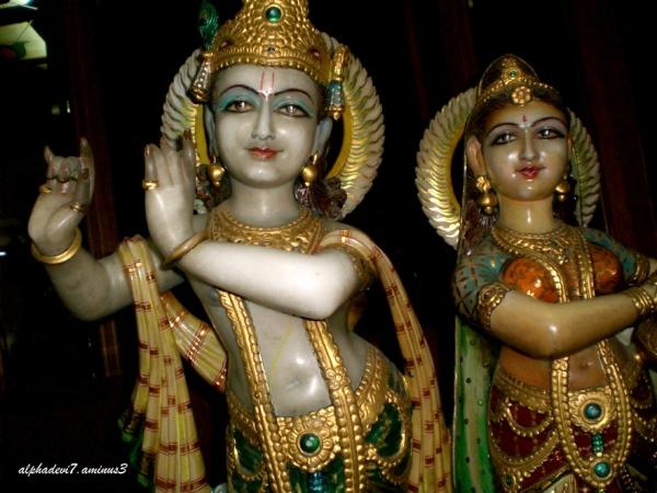 Krishna and Radha.