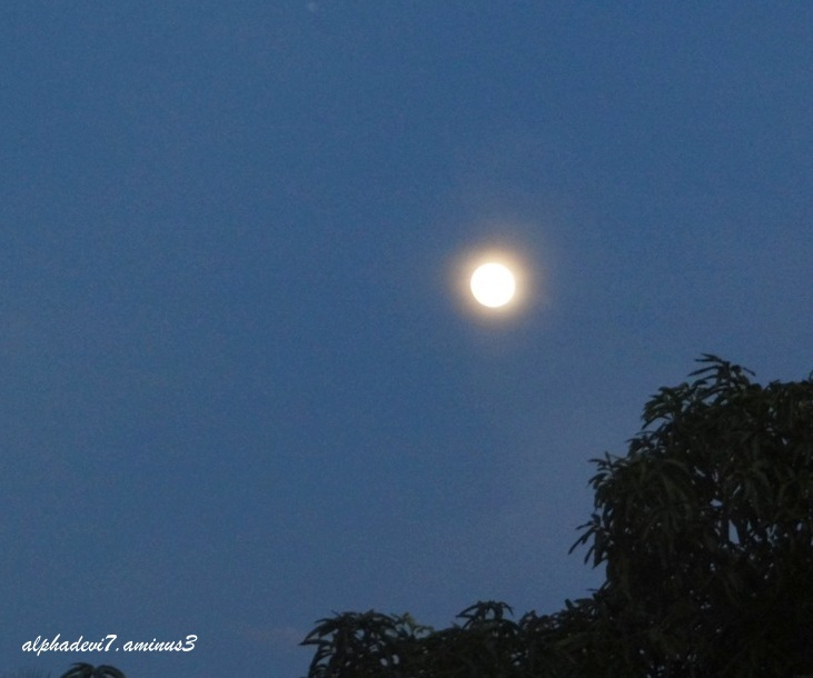 A day before the Super moon...