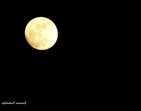The day before the Super moon 2