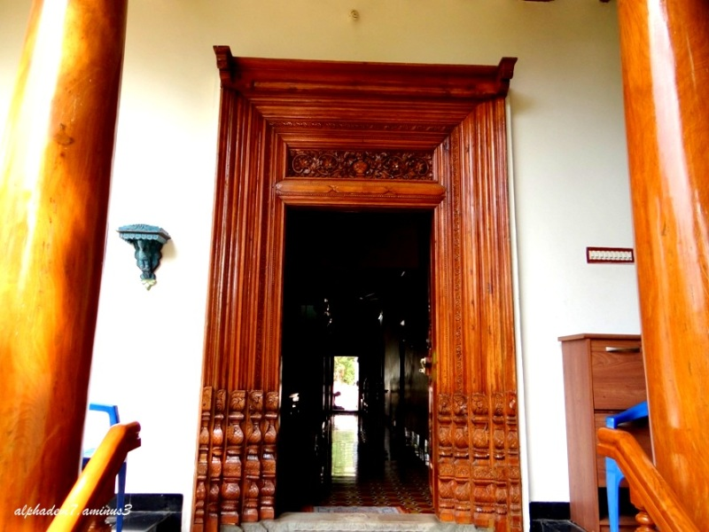 The entrance...carved door