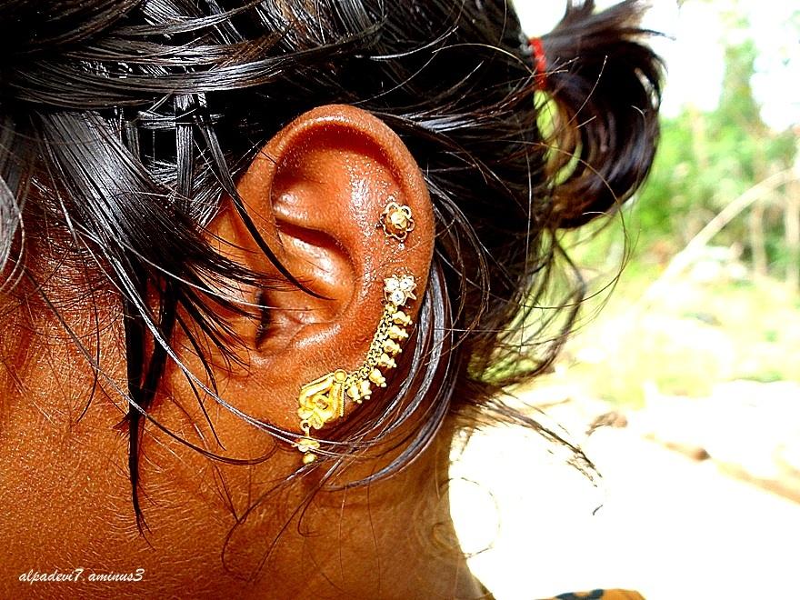Close up of ear rings