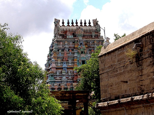 Another view of the Temple tower and wall