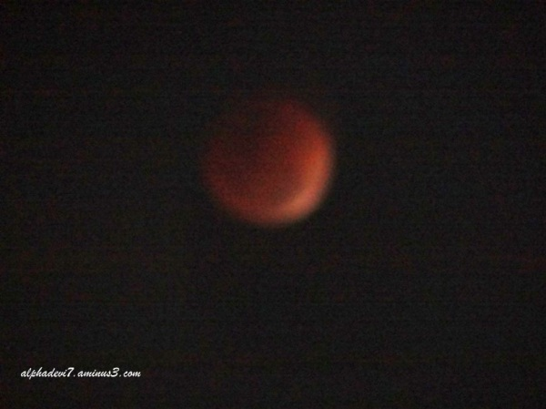 The Red Moon or the Blood moon..