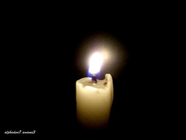 Flickering flame..